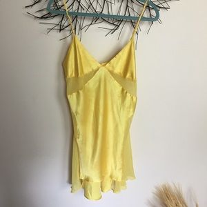 Victoria's Secret lemon drop yellow chemise. Large